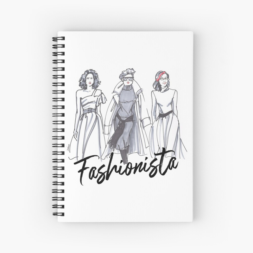 Sassy Fashionistas Spiral Notebook
