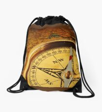 Compass for a captain Drawstring Bag