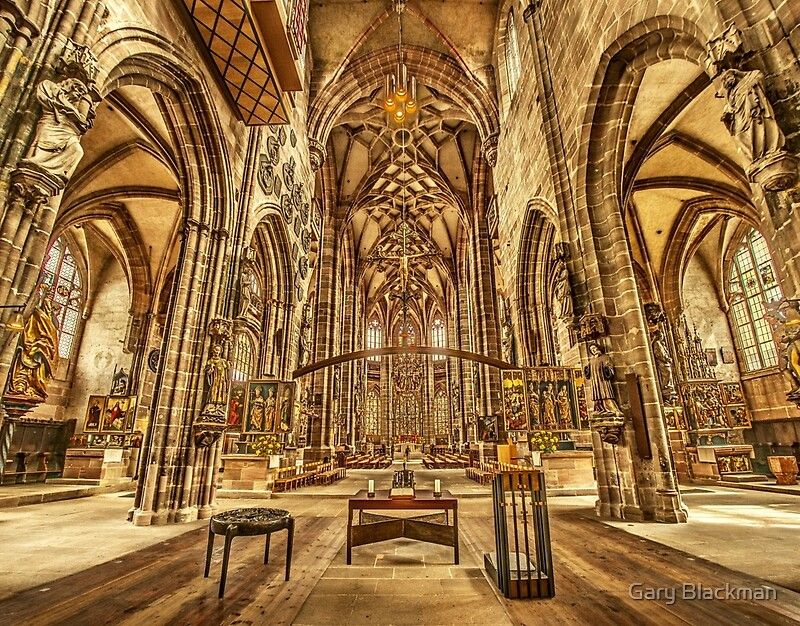 st lorenz medieval church nuremberg germany photographic prints by gary blackman redbubble. Black Bedroom Furniture Sets. Home Design Ideas