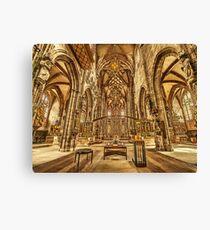St. Lorenz medieval church Nuremberg Germany Canvas Print