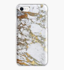 Golden marble iPhone Case/Skin