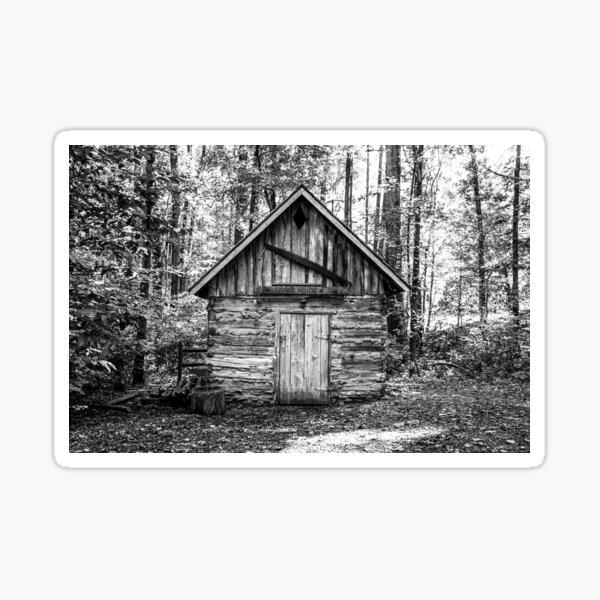 Smokehouse in Black and White Sticker