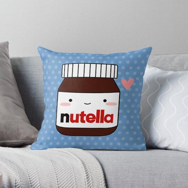 Cute Nutella jar Throw Pillow