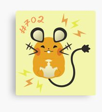 Cute + Cuddly Dedenne  Canvas Print