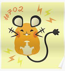 Cute + Cuddly Dedenne  Poster