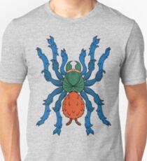 Heraldic Tarantula (Greenbottle Blue) T-Shirt
