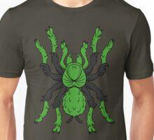 Heraldic Tarantula (Green / Black) Unisex T-Shirt