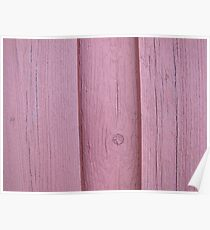 Red wooden boards of an old house Poster