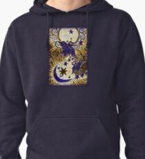 Owl Sun Moon Pullover Hoodie