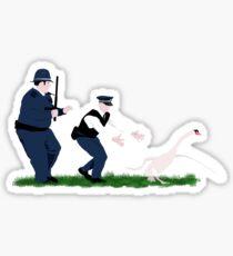 Swan cops Sticker
