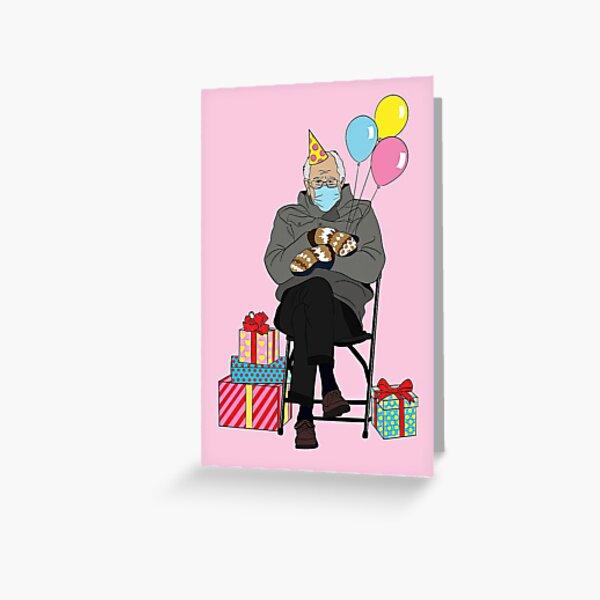 Bernie Sanders Birthday Card - Bernie Sanders Meme - Bernie Sanders Inauguration - Bernie Mittens - Bernie Sanders Card -Bernie Sitting Greeting Card