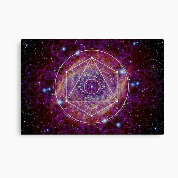 Sacred Geometry Nebula Canvas Print
