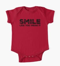 Smile Like You Mean It One Piece - Short Sleeve