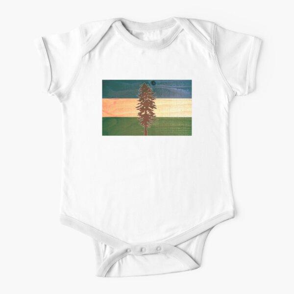 The Doug Flag on Cedar Short Sleeve Baby One-Piece