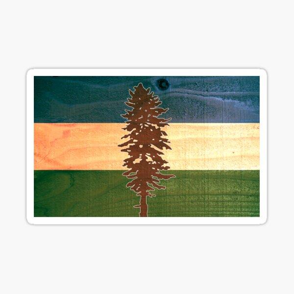 The Doug Flag on Cedar Sticker