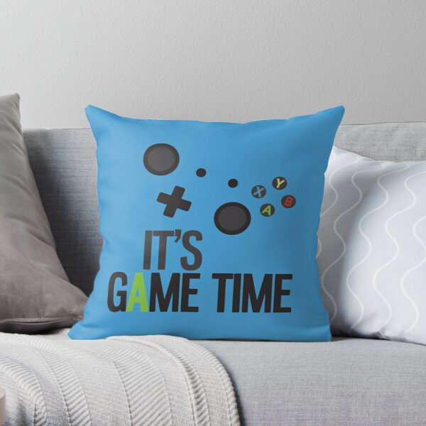 It's Game Time - BLUE Throw Pillow