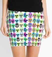 Lucha Masks Mini Skirt