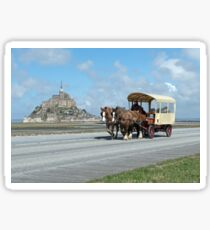 Horse & Carriage - Mont St. Michel, Normandy, France Sticker
