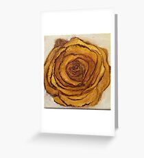 Golden Blossom Greeting Card