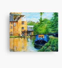Narrow Boat at Coxes Lock Canvas Print