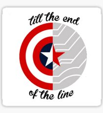 Till The End Of The Line Shield Sticker