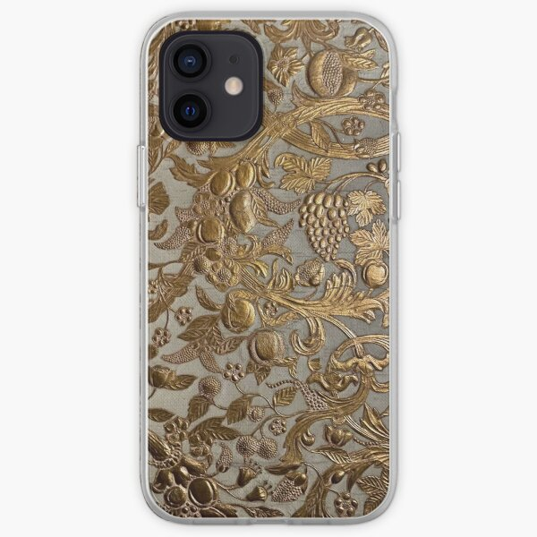 """Gibson House Museum Japanese """"Leather"""" Wallpaper (View 2) iPhone Soft Case"""