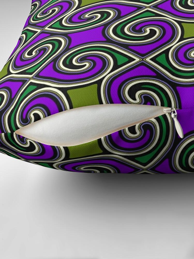 Alternate view of Modern Geometric Decorative Purple Green Pattern Design 621 Floor Pillow