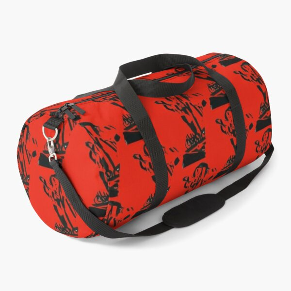 Stretching Model Collage Fashion Pose Duffle Bag