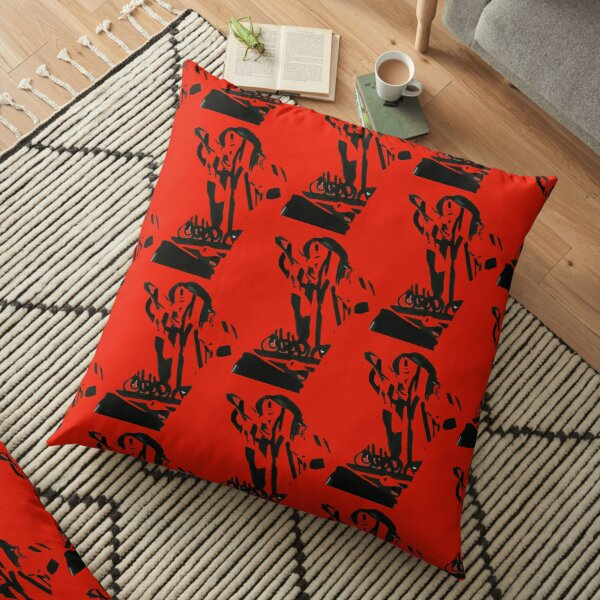 Stretching Model Collage Fashion Pose Floor Pillow