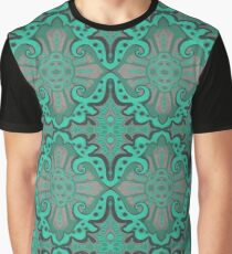 """""""Sliced pomegranat"""" organic forms,  bohemian pattern, mint and grey tones Graphic T-Shirt"""