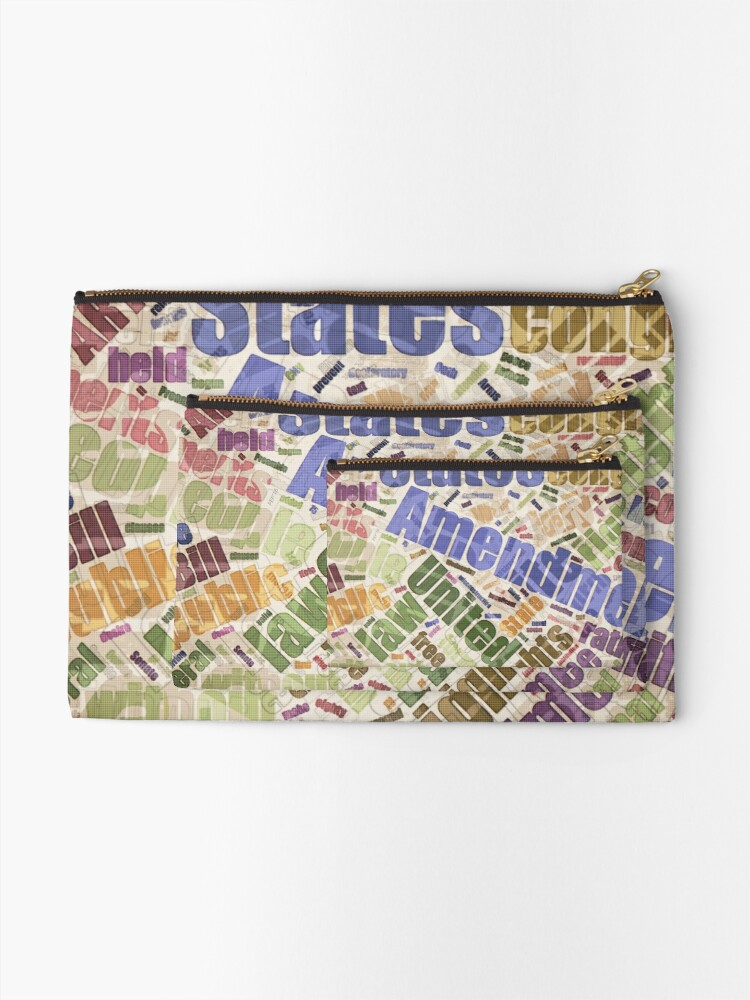 Alternate view of Bill of Rights Word Cloud Zipper Pouch