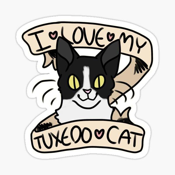 I <3 My Tuxedo Cat Sticker