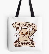 I <3 My Persian Cat Tote Bag
