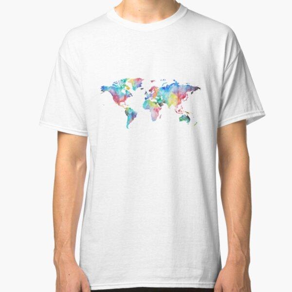 Watercolor Map Classic T-Shirt