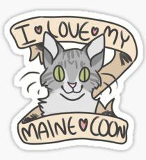 I <3 My Maine Coon Sticker