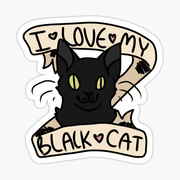 I <3 My Black Cat Sticker