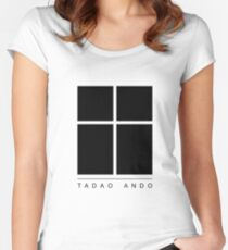 Tadao Ando Logo Women's Fitted Scoop T-Shirt