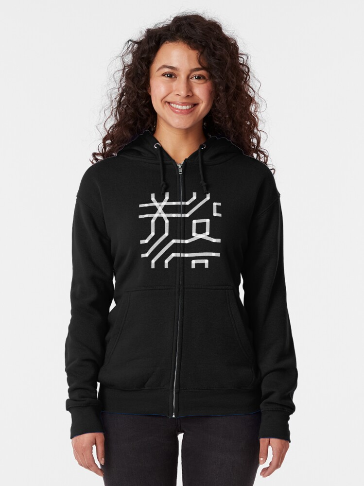 Alternate view of HATE - CONNECT Zipped Hoodie