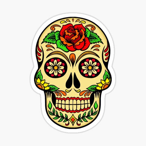 Azúcar Calavera Decoración Pared Pegatinas CANDY Rockabilly Tatuaje ROCA