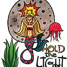 Hold the Light: Magical Mermaid Original Watercolor Illustration by mellierosetest