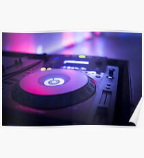 House dance music dj deejay turntable mixing desk nightclub party Ibiza Poster