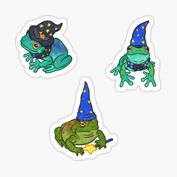Magical Frog and Toad Friends Sticker