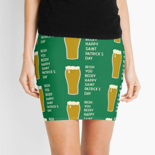 Irish You Beery Happy Saint Patrick's Day Mini Skirt