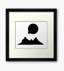 Black Planet Framed Print