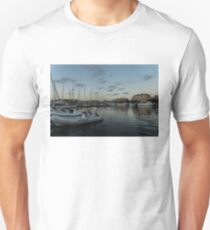 As the Evening Gently Comes - Ortygia, Syracuse, Sicily Grand Harbor  Unisex T-Shirt