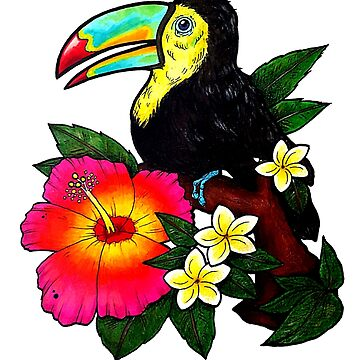 Tropical Toucan (Colour) by AlienEyeArt