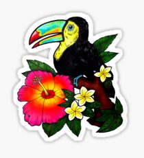 Tropical Toucan (Colour) Sticker