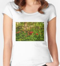 Untamed Tulip Forest - Impressions Of Spring Women's Fitted Scoop T-Shirt