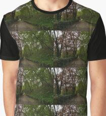 Spring Forest With Tulips Graphic T-Shirt