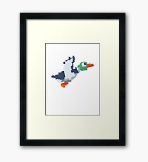 8-Bit Duck Framed Print